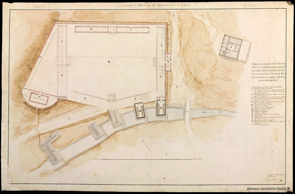 Planta general del proyecto de fábrica de pólvora en Ruidera