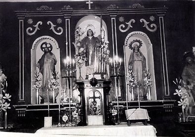 Retablo de la Ermita de Cervera en los años 50