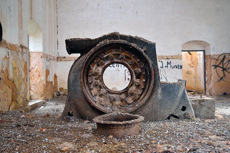 La sala de máquinas de la central de El Ossero