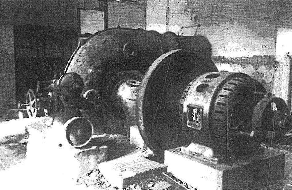 Sala de máquinas de la central hidroeléctrica de El Ossero