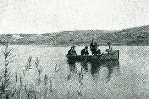 Barca en la Laguna del Rey