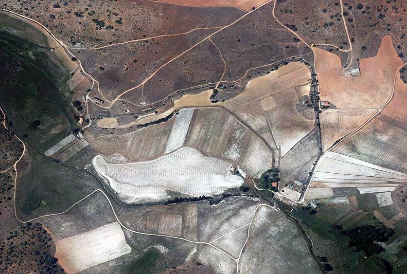 Vista aérea del canal de El Ossero