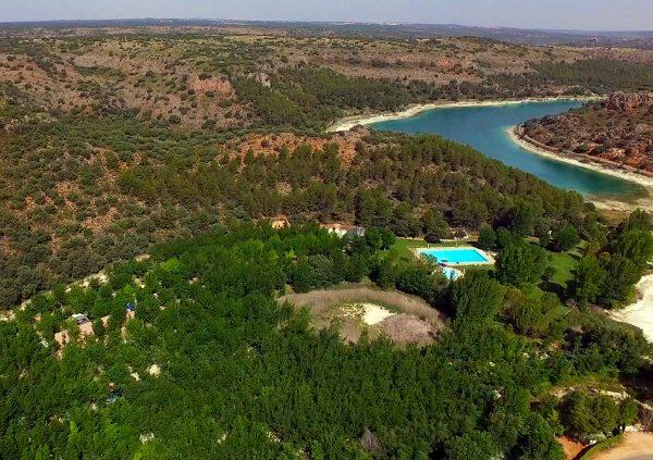Laguna Taza desde el aire