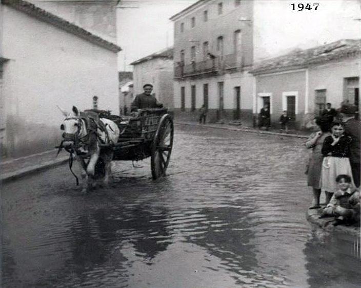 Calles inundadas de Tomelloso días después del reventón del Hundimiento de Ruidera