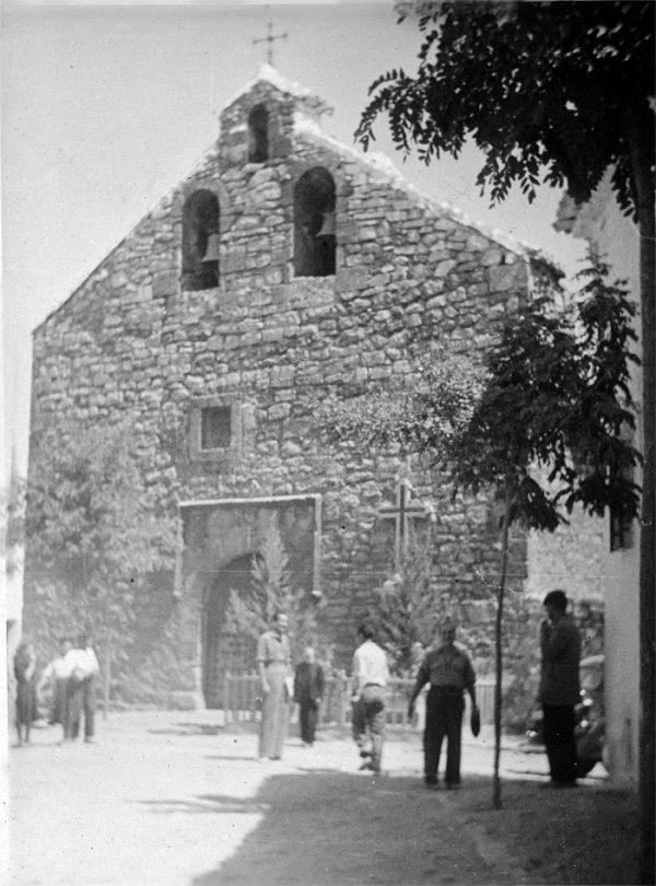 Iglesia de Santa María Magdalena de Ossa de Montiel en los años 40-50 del siglo XX.