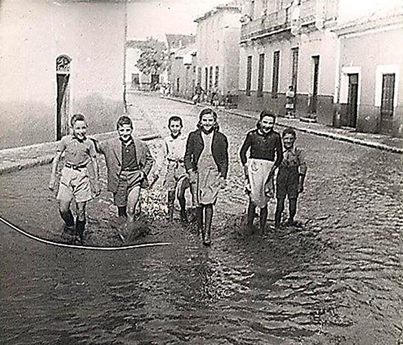 Tomelloso inundado por las aguas del Alto Guadiana en el año 1947