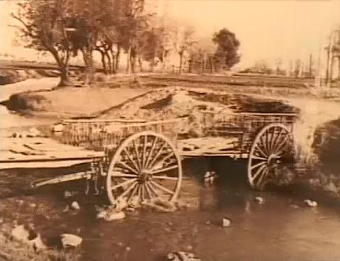 Puente de los Carros sobre el Azuer en Manzanares. Principios siglo XX