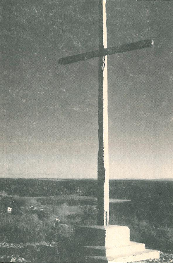 Antigua Cruz de las Monjas en los años 70 del siglo XX