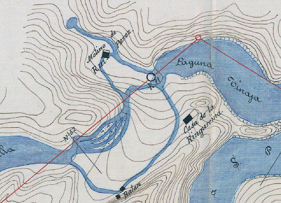 Fuente de la Telesfora o Ruipérez en un mapa del año 1895