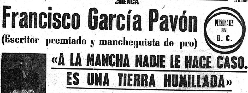 García Pavón en el Diario de Cuenca 1973