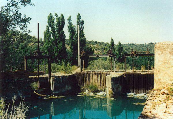 Cámara de presión del canal de la central hidroeléctrica de Ruipérez en los años 80 del siglo XX