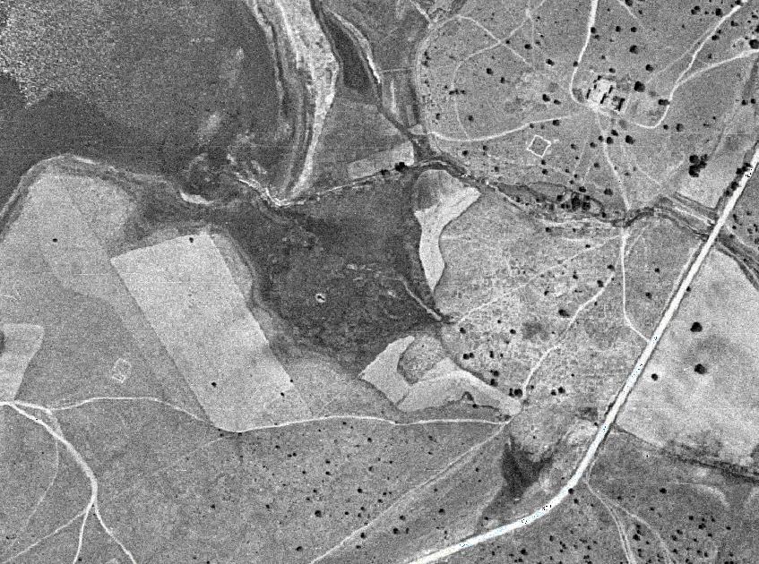 La fuente del Borbotón en el año 1956, en el Parque Natural de las Lagunas de Ruidera
