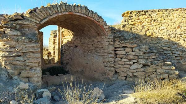 Ruinas del molino del Cuervo, en el Alto Guadiana, 2020