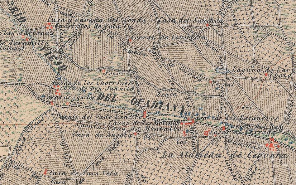 Mapa de Alameda de Cervera del año 1886