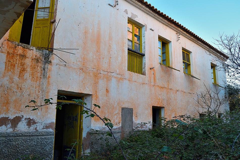 Fachada de las casas de los operarios de Ruipérez