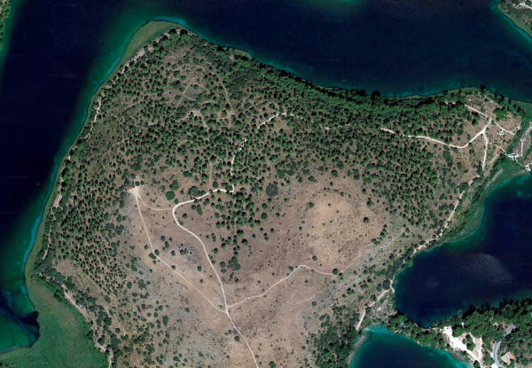 Vista aérea de la Mesa del Almendral, en las Lagunas de Ruidera